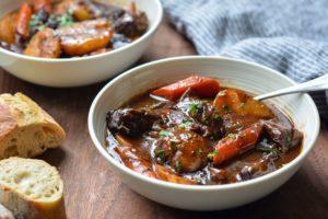 Delicious stew gelatinous foods pigs feet