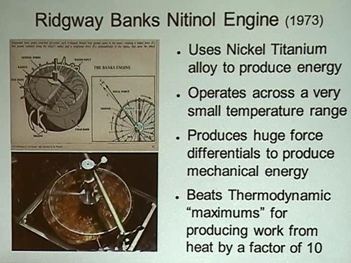 nitinol heat engine endalldisease free energy