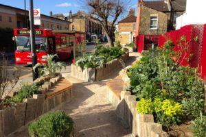Edible bus stop london
