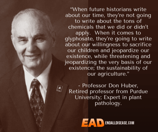 Professor Don Huber Quote about genetically modified food
