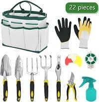 22 piece gardening tool set